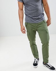 United Colors Of Benetton Cargo Trousers Green 33H