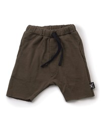Nununu Cotton Jersey Riding Shorts Olive Green