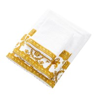 Versace Home Barocco And Robe Towel White Gold