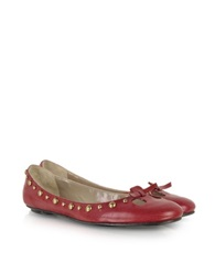 Marc Jacobs Studded Leather Ballerina Red