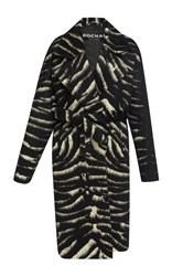 Rochas Zebra Jacquard Coat Animal