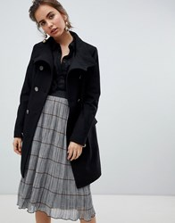 B.Young Military Button Wool Coat Black
