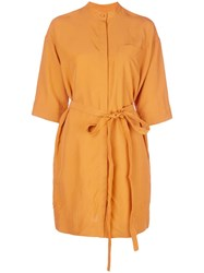 Co Belted Shirt Dress Orange