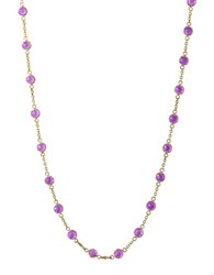 Effy Viola Amethyst And 14K Yellow Gold Long Station Necklace Purple