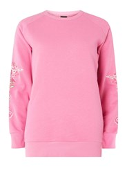 Dorothy Perkins Only Pink Embroidered Sweatshirt