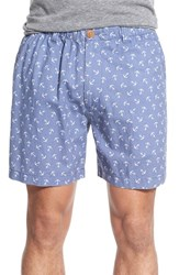 Men's Vintage 1946 'Snappers' Anchor Print Poplin Shorts