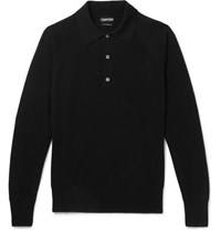 Tom Ford Cashmere Polo Shirt Black