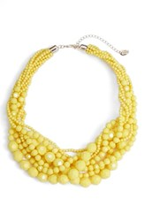 Stella Ruby Multi Strand Beaded Necklace Gold Yellow