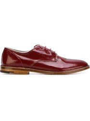 Premiata Stacked Heel Derby Shoes Red