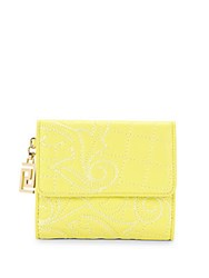 Versace Leather Wallet Yellow