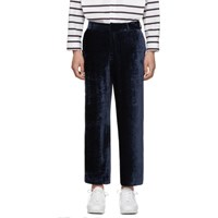 Sies Marjan Navy Fluid Corduroy Cropped Alex Trousers