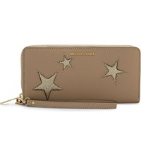 Michael Michael Kors Peek A Boo Leather Continental Wallet Oyster Gold