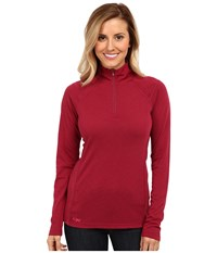 Outdoor Research Essence L S Zip Top Mulberry Desert Sunrise Women's Long Sleeve Pullover Red