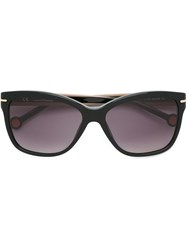 Carolina Herrera Square Frame Sunglasses Black