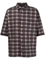 Aganovich Plaid Shirt Black