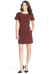 French Connection 'Whisper Ruth' Jersey A Line Dress Red