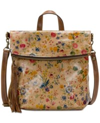 Patricia Nash Burnished Tooled Luzille Small Convertible Backpack Prairie Rose