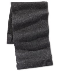 Ryan Seacrest Distinction Men's Donegal Scarf Only At Macy's Charcoal Grey