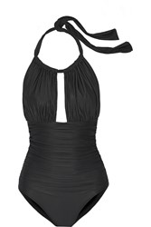 Lenny Niemeyer Ruched Cutout Swimsuit Black