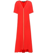 Sies Marjan Silk Midi Dress Red