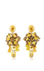 Ranjana Khan Yellow Coin Earrings