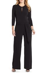 Plus Size Women's Lauren Ralph Lauren Keyhole Neck Wide Leg Jumpsuit