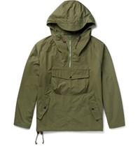 Arpenteur Cotton Gabardine Hooded Anorak Army Green