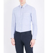 Hugo Boss Slim Fit Cotton Oxford Shirt Dark Blue