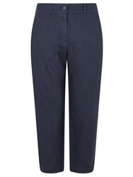John Lewis Cropped Linen Trousers Navy
