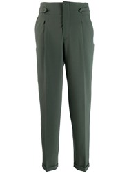 Closed High Waisted Trousers Green