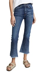 Hudson Holly High Rise Cropped Flare Jeans Distressed Sundown