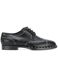 Dolce And Gabbana Studded Derby Shoes Black