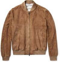 Hackett Mayfair Suede Bomber Jacket Tan