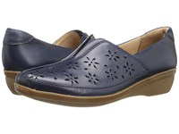 Clarks Everlay Dairyn Navy Leather Women's Shoes Blue