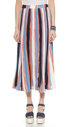 Elle Sasson Koa Silk Skirt