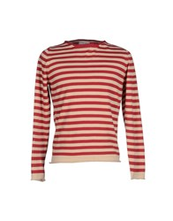 Alpha Studio Knitwear Jumpers Men Red
