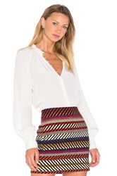 Trina Turk Spontaneous Blouse White