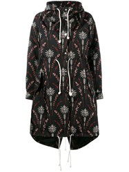 Creatures Of The Wind Printed Nylon Parka Black