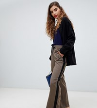 Monki Checked Jogger Style Tailored Trousers Brown Check