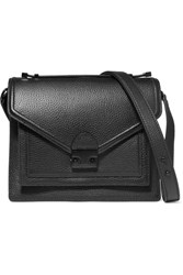 Loeffler Randall Rider Medium Textured Leather Shoulder Bag Black