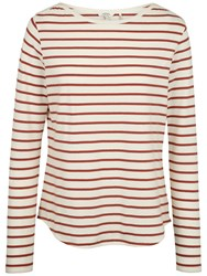 Fat Face Breton Stripe Top Redwood