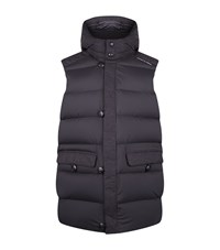 Porsche Design Hooded Down Gilet Male Black