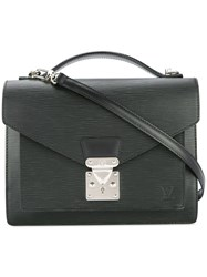 Louis Vuitton Vintage Monceau 2Way Hand Bag Black