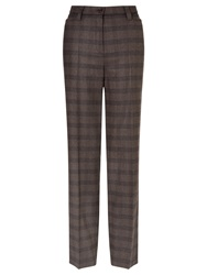 Gardeur Kayla Check Trousers Chocolate
