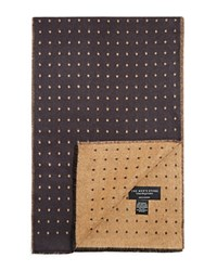 Bloomingdale's The Men's Store At Reversible Dots Scarf Grey Camel