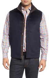 Peter Millar Men's Greenwich Wool And Cashmere Quilted Vest Navy