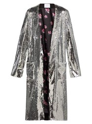 Racil Vivien Sequinned Coat Silver