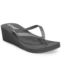 Reef Krystal Star Wedge Thong Sandals Women's Shoes Grey