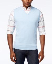 Club Room Sweater Vest Only At Macy's Pale Ink Blue