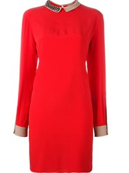 N 21 Nao21 Embellished Collar Dress Red